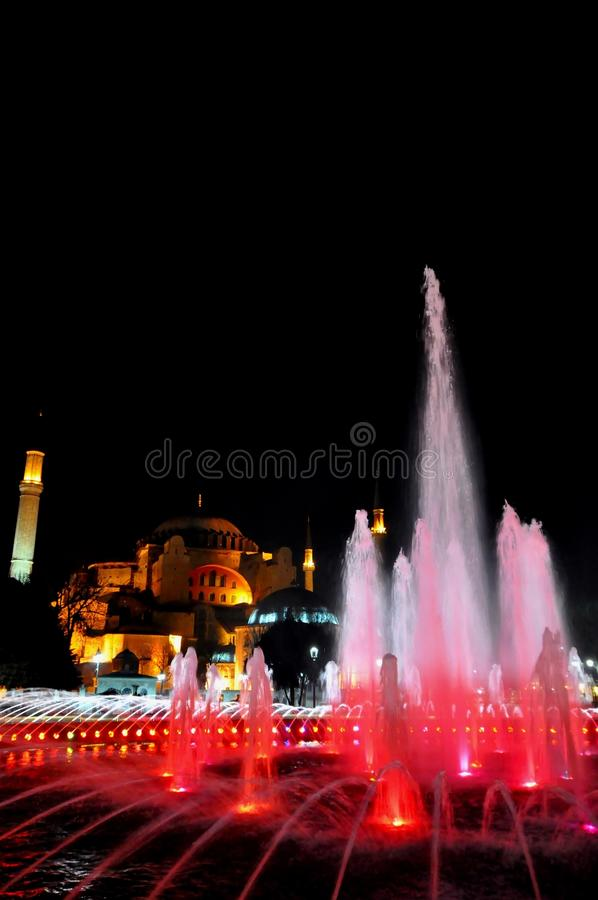 Download Hagia Sophia at night editorial stock photo. Image of hagia - 39512558