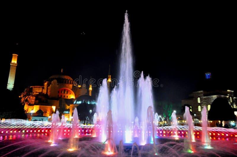 Download Hagia Sophia at night editorial stock image. Image of ancient - 39512564
