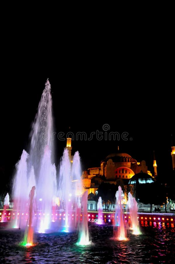 Download Hagia Sophia at night editorial photo. Image of istanbul - 39512566