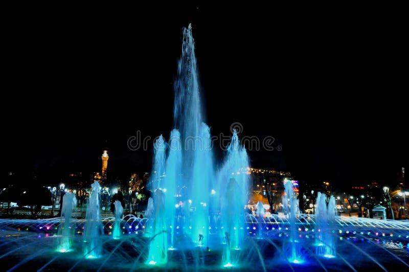 Download Hagia Sophia at night editorial image. Image of blue - 39512570