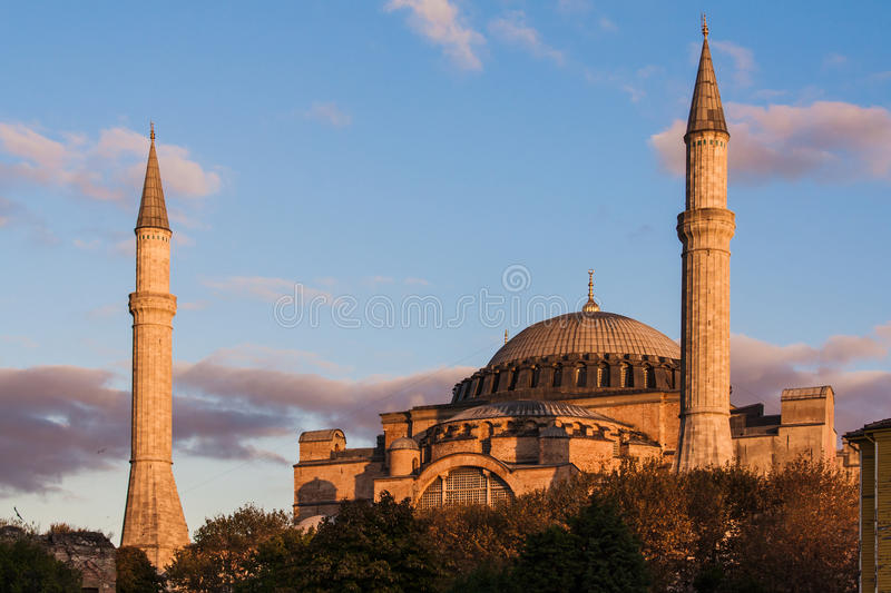 Hagia Sophia no por do sol foto de stock royalty free