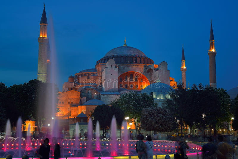 Hagia Sophia (ook genoemd Hagia Sofia of Ayasofya) stock foto's