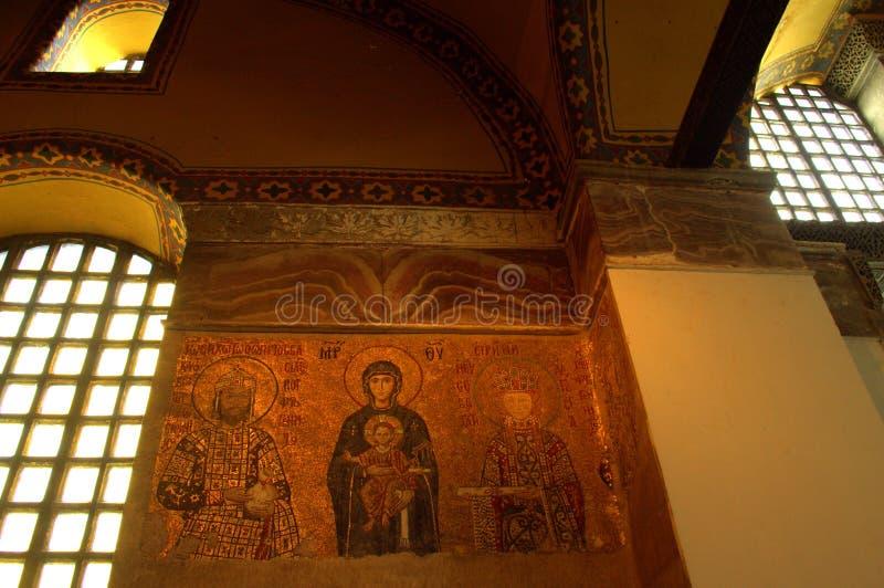 Hagia Sophia ortodoksyjne mozaiki obraz stock