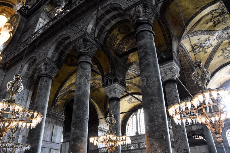 Hagia Sophia riep ook Hagia Sofia of Ayasofya-binnenland Christen, basiliek stock afbeeldingen