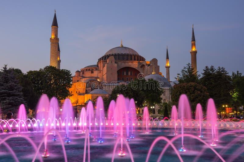 Hagia Sophia sur le coucher du soleil, Istanbul photo stock