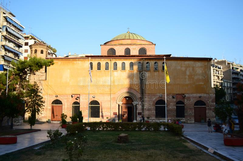 Hagia Sophia, Thessaloniki royaltyfri bild