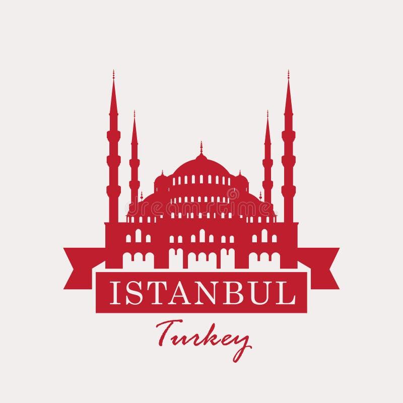 Hagia Sophia, Turquía, Estambul stock de ilustración