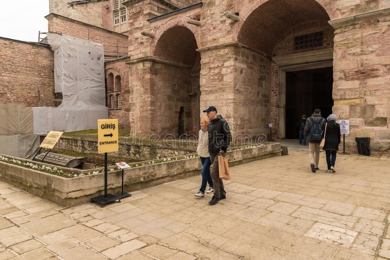 Hagia Sophia, una basilica patriarcale cristiana greco ortodossa immagini stock