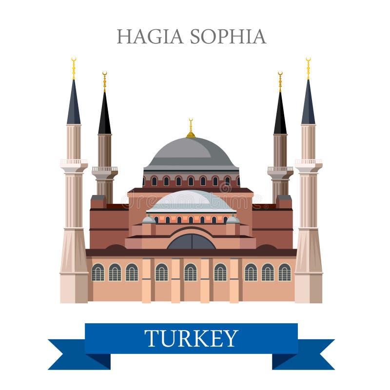Hagia Sophia w Istanbuł atrakci turystycznej Indyczym punkcie zwrotnym royalty ilustracja