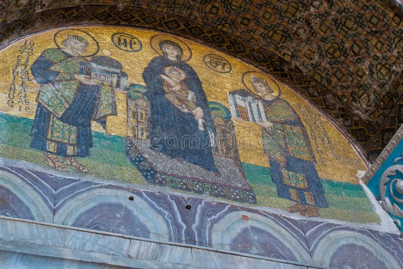 Hagia Sophia wnętrza mozaika obraz stock