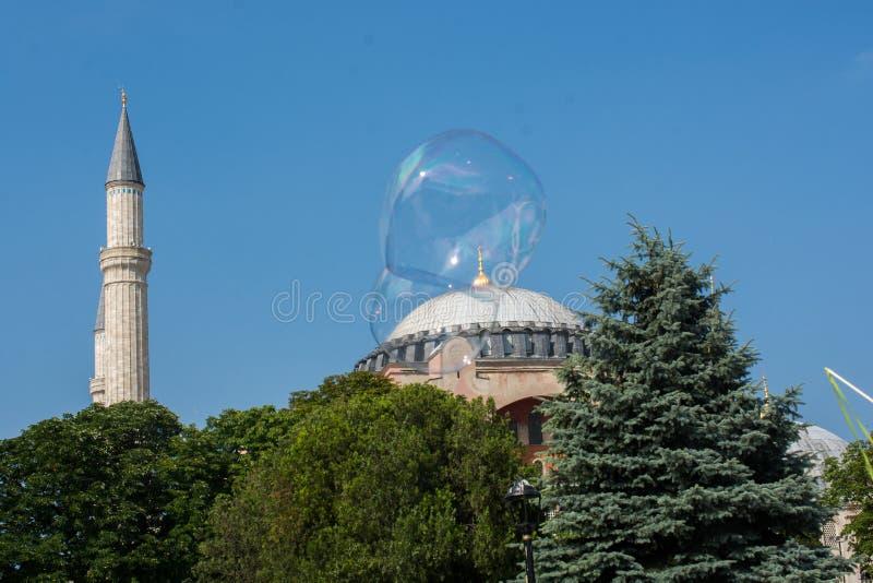 Hagia Sophia, the world famous monument. Of Byzantine architecture royalty free stock photo