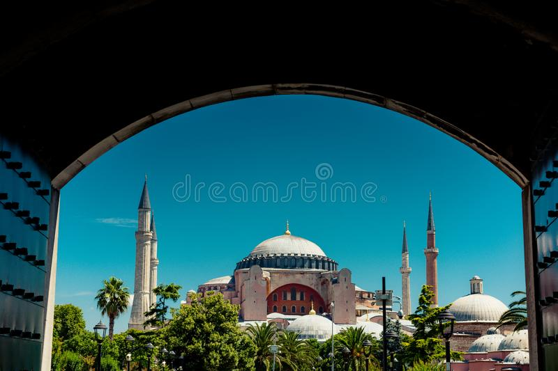 Hagia Sophia, the world famous monument. Of Byzantine architecture royalty free stock images