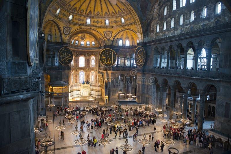 Hagia Sopia kyrkligt museum, lopp Istanbul, Turkiet royaltyfria bilder