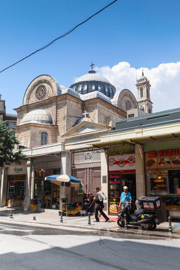 Hagia Triada教会在伊斯坦布尔,土耳其 免版税库存照片