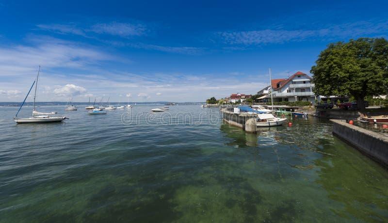 Hagnau - lago Constance, Baden-Wuerttemberg, Alemanha, Europa fotografia de stock