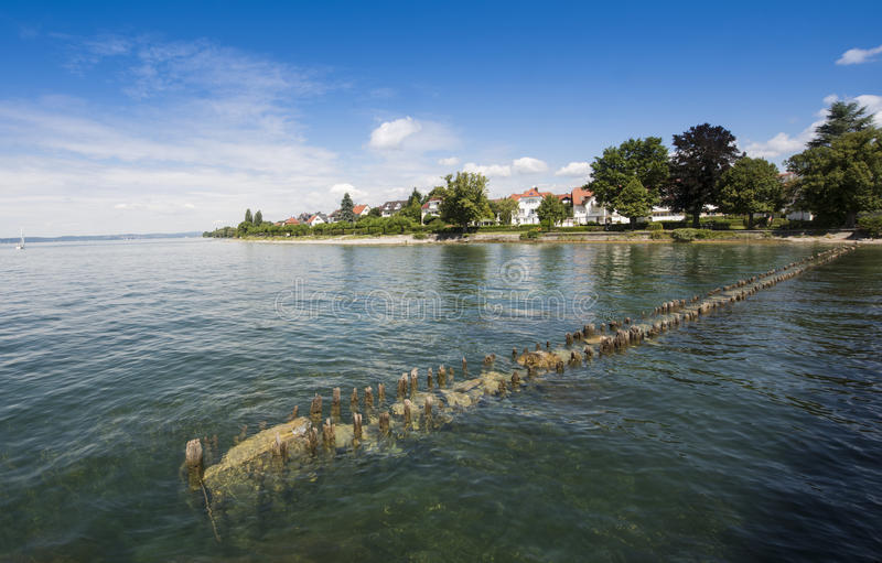 Hagnau - lago Constance, Baden-Wuerttemberg, Alemanha, Europa foto de stock royalty free