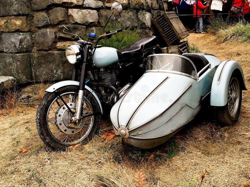 Hagrid-` s Motorrad und Hintergrund Haupt-Hagrid stockfotos
