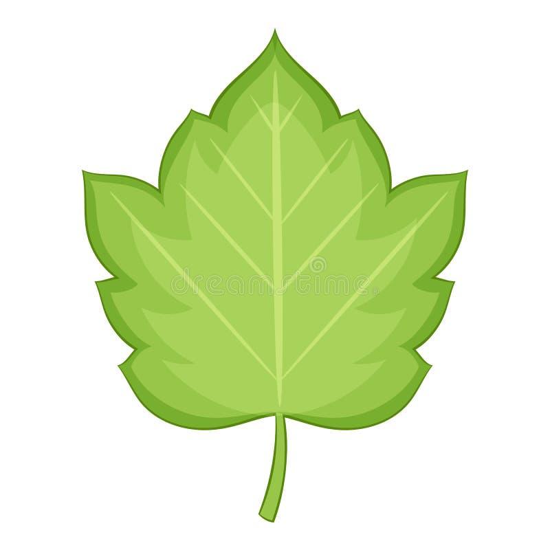 Hagtornbladsymbol, tecknad filmstil royaltyfri illustrationer