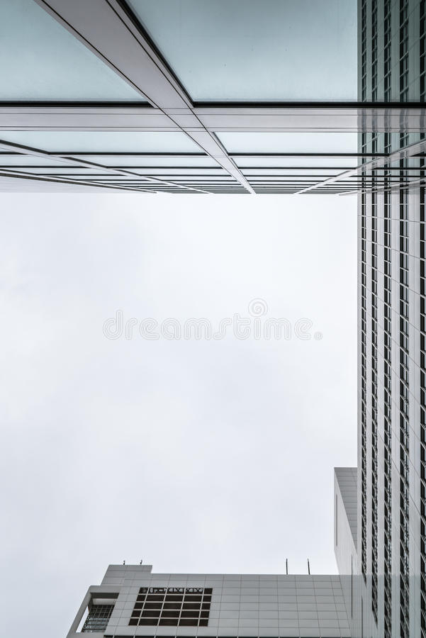 The Hague City Hall by American architect Richard Meier. Low angle view. The Hague, The Netherlands - August 7, 2016: The Hague City Hall. It was designed by stock images