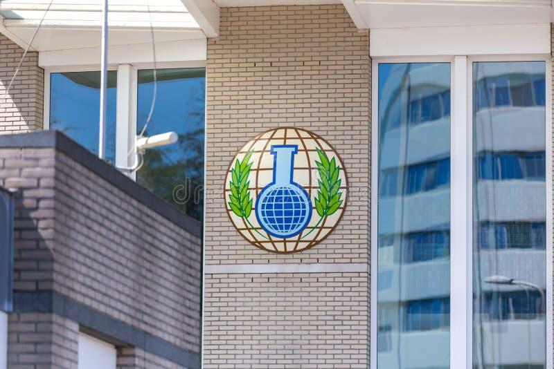 Hague Hague, holandie,/- 02 07 18: Organisation dla prohibici Chemiczne bronie buduje w Hague netherland zdjęcie royalty free