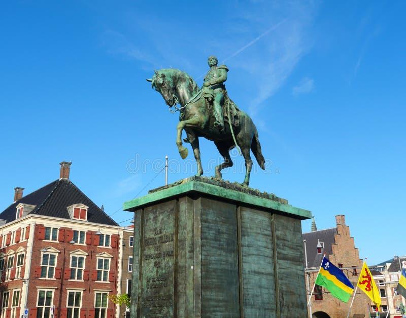 Willem van Oranje statue in the Hague. stock photography