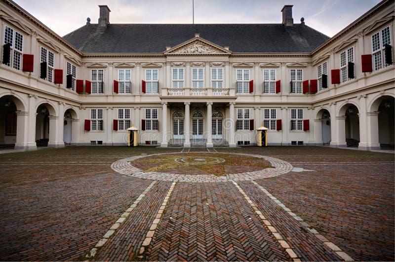 hague noordeinde pałac obraz royalty free