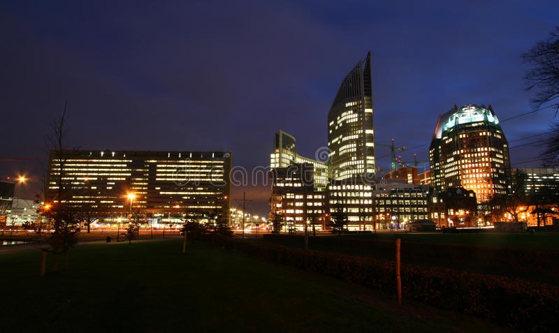 Download The Hague Skyline stock photo. Image of lights, urban - 14643580