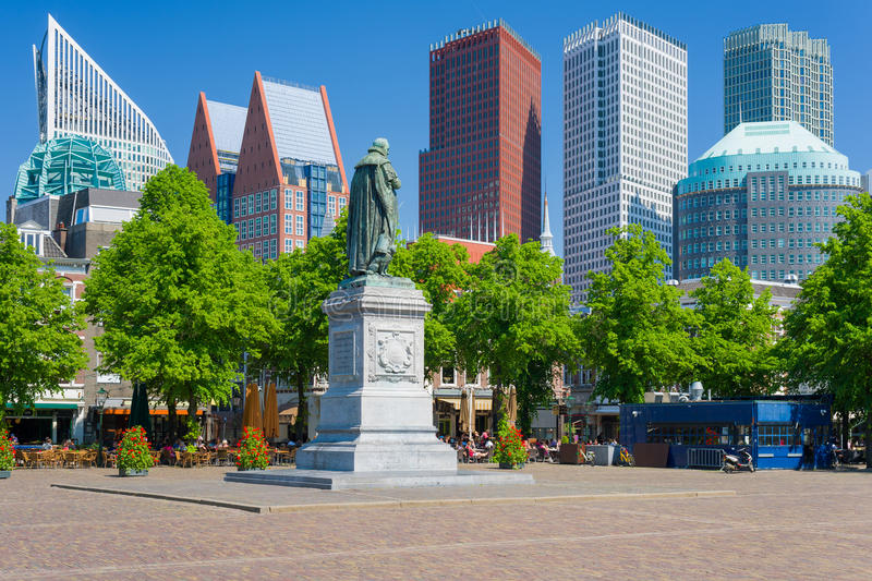 Hague in a summer day stock photography