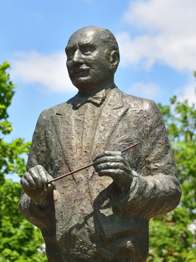HAHNENKLEE, GOSLAR, LOWER SAXONY, GERMANY - JUNE 22, 2019: The statue of Paul Lincke, a German composer. The statue of Paul Lincke, a German composer who died stock photo
