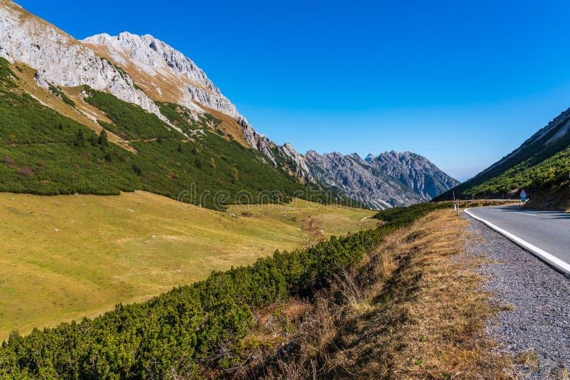 Hahntenjoch près d'Imst dans le Tirol Autriche, l'Europe images libres de droits
