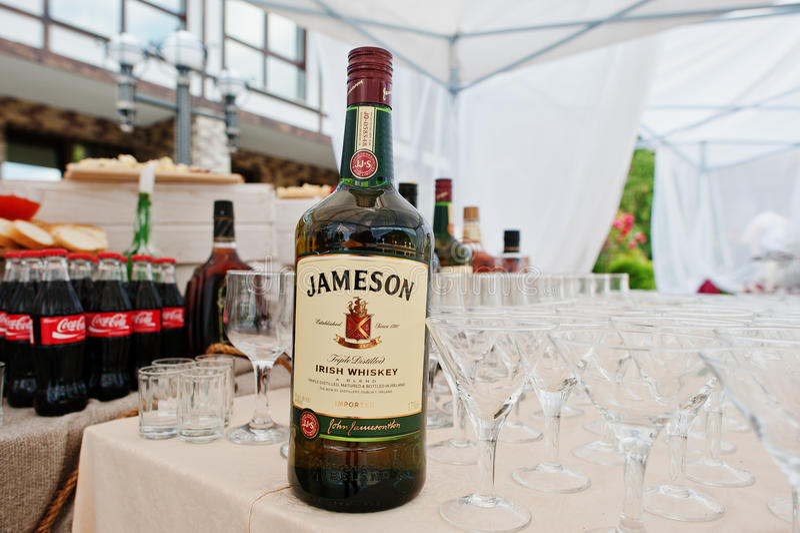 Hai, de Oekraïne - Oktober 25, 2016: Jameson Irish-whisky op bu stock foto