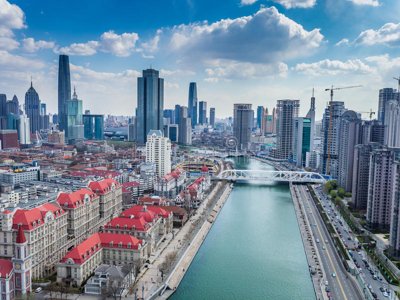 Hai River em Tianjin imagens de stock royalty free