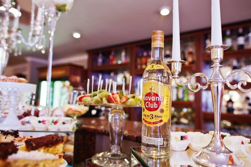 Hai, Ukraine - 25 octobre 2016 : Rhum Havana Club sur la table de buffet image libre de droits