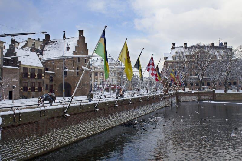 Haia, Holland no inverno imagens de stock royalty free