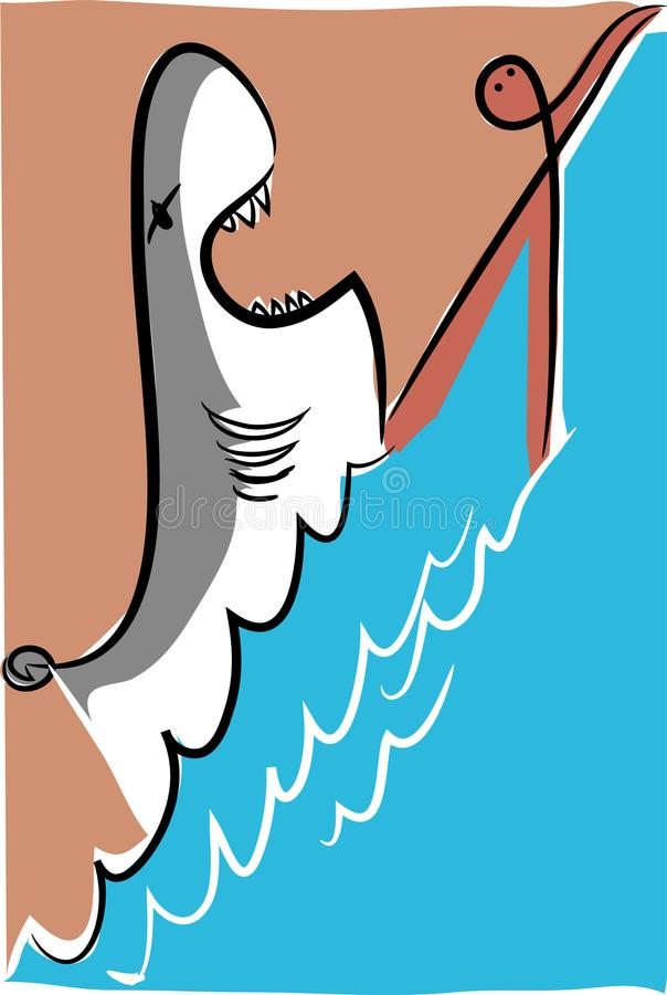 Haiangriff lizenzfreie abbildung