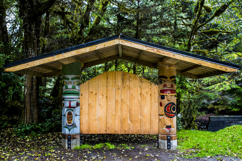Haida Carvings stock image