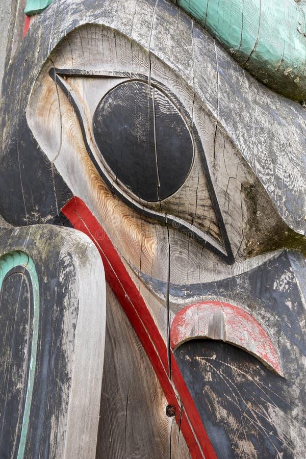 Haida totemu słupa zakończenie Up obrazy royalty free
