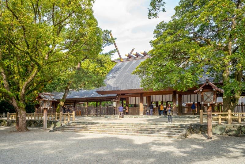 Haiden de tombeau d'Atsuta à Nagoya, Japon photographie stock libre de droits
