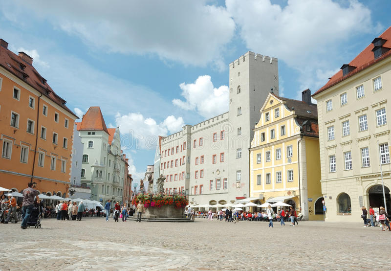 Download Haidplatz, Town Square In Regensburg,Germany Editorial Stock Photo - Image: 14850698