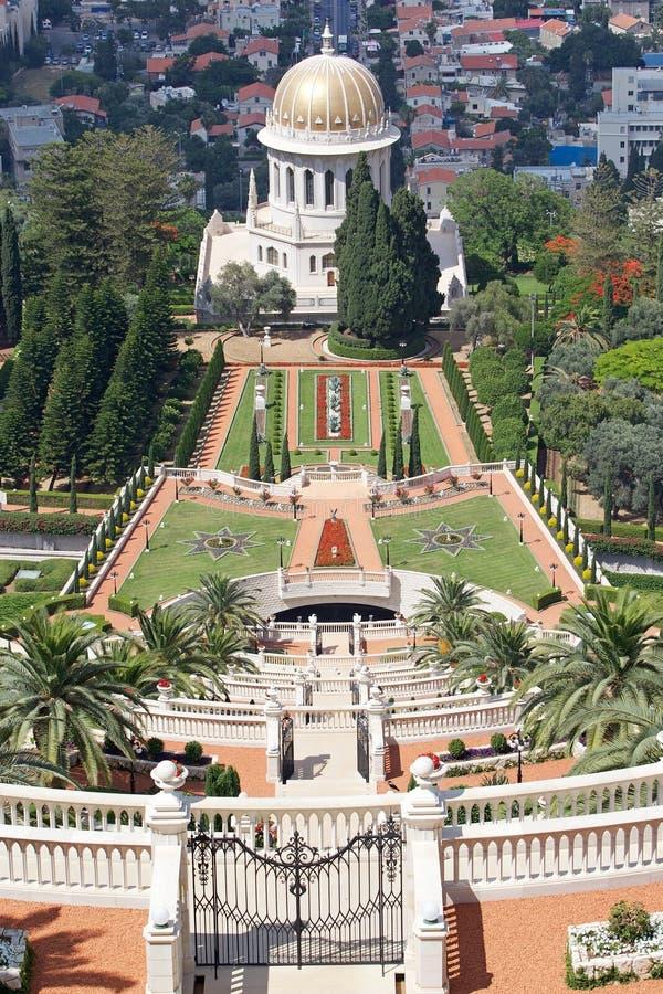 Haifa Bahai-Garten lizenzfreies stockfoto