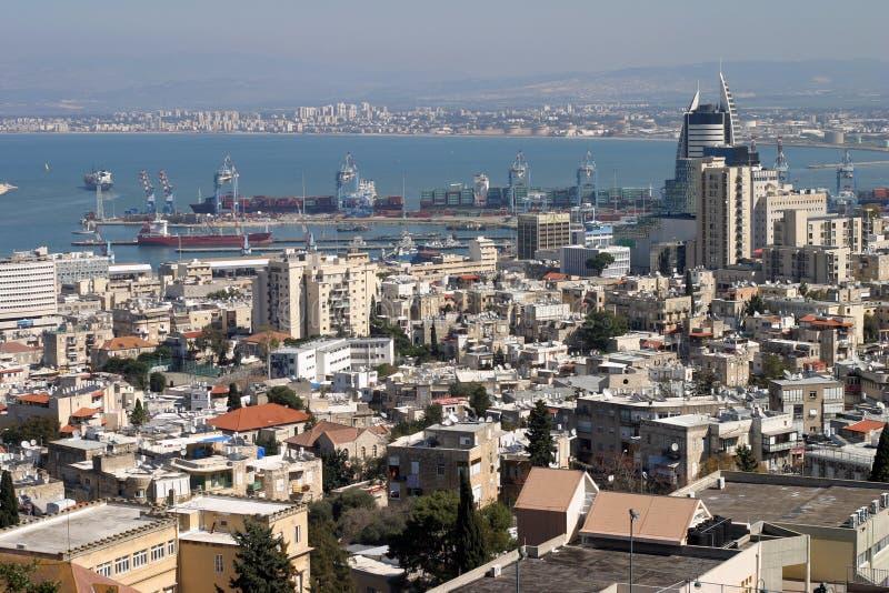 Haifa bay obrazy stock