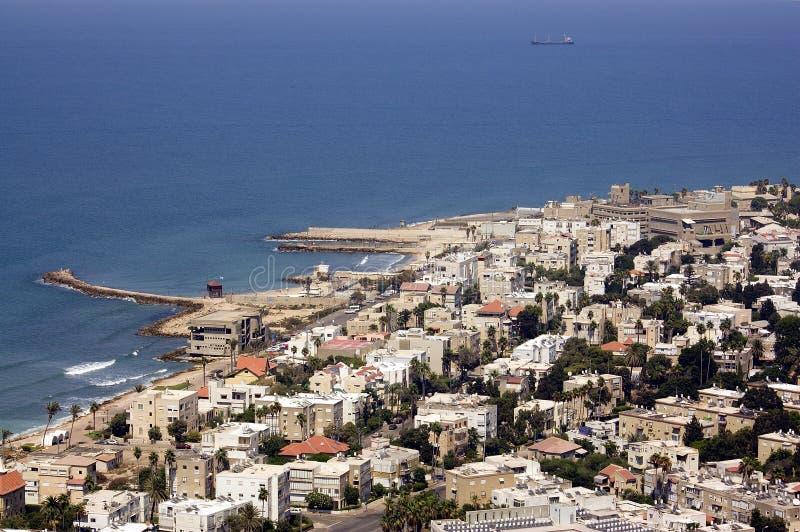 Haifa city stock image