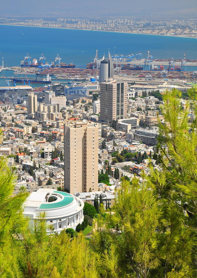 Haifa city. Nothern Israel. stock photography