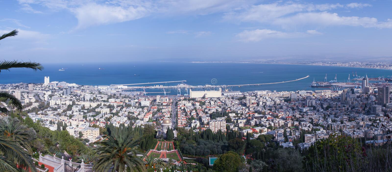 Haifa Israel-panorama stock fotografie