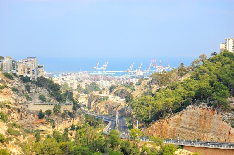 Haifa, Israel. A view of Haifa the largest sea port city in Israel royalty free stock photography