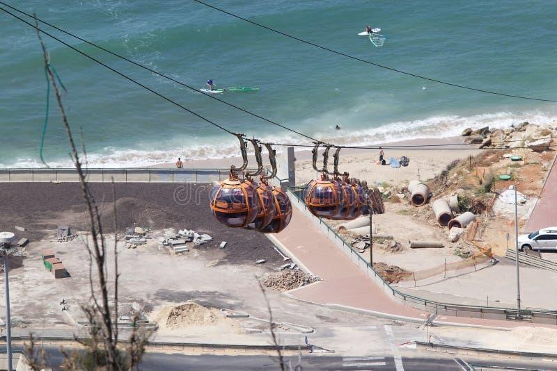 Haifa kablowy sposób fotografia royalty free