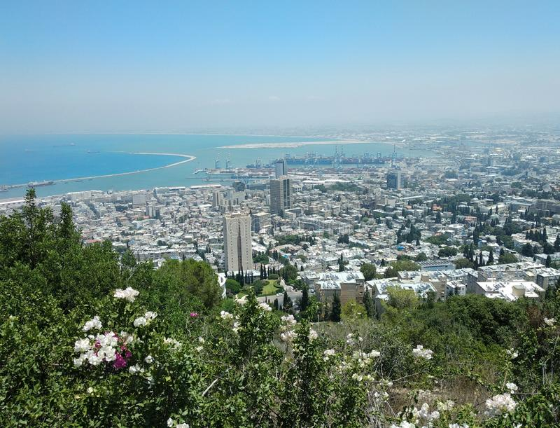 Haifa miasto zdjęcia royalty free