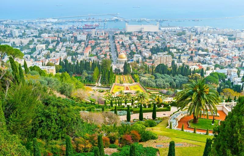 Haifa od wierzchołka zdjęcia royalty free