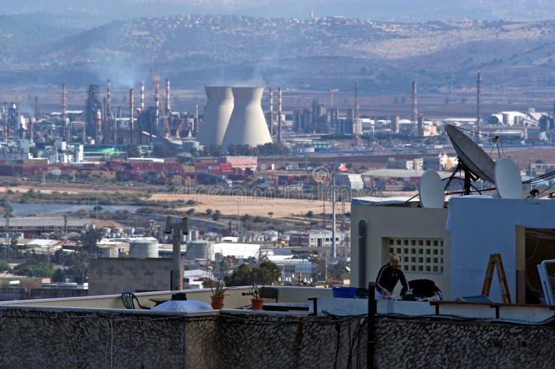 Haifa Oil Refineries - Israel royaltyfria bilder