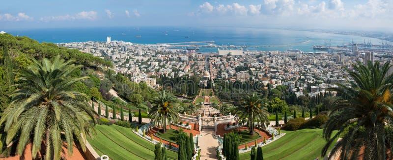 Haifa Panorama stockfotos